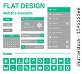 flat design for website   web...