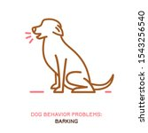 dog behavior problem icon.... | Shutterstock .eps vector #1543256540