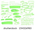 set of graphic signs. vector... | Shutterstock .eps vector #154326983