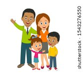 happy young family on the white ... | Shutterstock .eps vector #1543276550