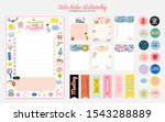 collection of weekly or daily... | Shutterstock .eps vector #1543288889