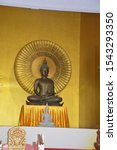 Small photo of The Buddha image means a statue that was created in place of the Lord Buddha. To pay obeisance