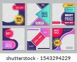 post template. social media ads ... | Shutterstock .eps vector #1543294229
