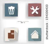 abstract social media... | Shutterstock .eps vector #154330433