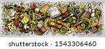 pizza hand drawn cartoon... | Shutterstock .eps vector #1543306460