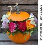 Pumpkin With Flowers Inside