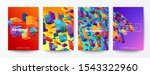 set of abstract colorful flying ...   Shutterstock .eps vector #1543322960