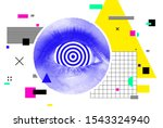 bright vector collage of... | Shutterstock .eps vector #1543324940