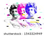 bright vector collage of... | Shutterstock .eps vector #1543324949