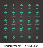 weather icons. see also vector...