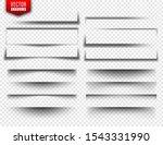 vector shadows set. page...   Shutterstock .eps vector #1543331990