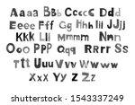 lettering paper alphabet kids.... | Shutterstock . vector #1543337249
