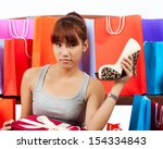 isolated young asian woman with ... | Shutterstock . vector #154334843