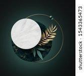 3d abstract modern minimal... | Shutterstock . vector #1543365473
