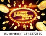the gold word jack pot ...   Shutterstock .eps vector #1543372580