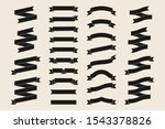 black ribbon banners collection ... | Shutterstock .eps vector #1543378826