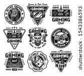 gaming set of nine vector... | Shutterstock .eps vector #1543386593