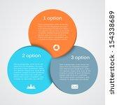 vector circle infographic.... | Shutterstock .eps vector #154338689
