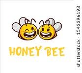 a vector cartoon honey bee... | Shutterstock .eps vector #1543396193