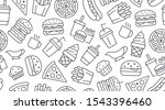 fast food seamless pattern with ... | Shutterstock .eps vector #1543396460