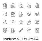 resume flat line icons set. hr... | Shutterstock .eps vector #1543396463