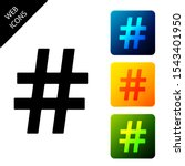 hashtag icon isolated. social...