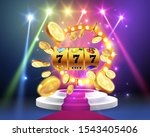 golden slot machine wins the... | Shutterstock .eps vector #1543405406