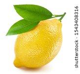 Lemon isolated on white...