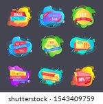 sales and discounts vector ... | Shutterstock .eps vector #1543409759