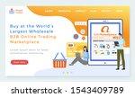 b2b online trading platform...   Shutterstock .eps vector #1543409789