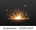 transparent golden glow light... | Shutterstock .eps vector #1543411019