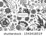 Floral Design With Black And...