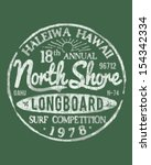 North Shore Surfing Theme Vintage Design For Apparel