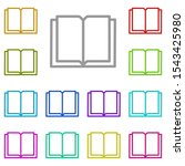 book multi color icon. simple...