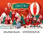 christmas toy land town... | Shutterstock .eps vector #1543426316
