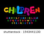 children's style colorful font  ... | Shutterstock .eps vector #1543441130