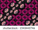 indonesian batik motifs with...   Shutterstock .eps vector #1543443746