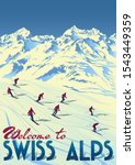 Swiss Alps Travel Poster....