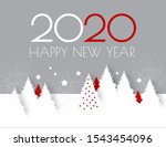 happy new 2020 year flyer... | Shutterstock .eps vector #1543454096