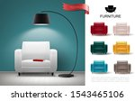 realistic furniture concept... | Shutterstock .eps vector #1543465106
