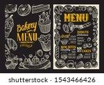bakery menu template for... | Shutterstock .eps vector #1543466426