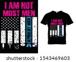 i am not most men... usa flag... | Shutterstock .eps vector #1543469603