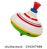 Toy Spinning Top Isolated On A...