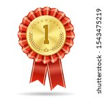 winner gold medal badge. no 1... | Shutterstock .eps vector #1543475219