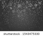 snowflakes fall transparent... | Shutterstock .eps vector #1543475330