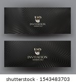 vip invitation cards with... | Shutterstock .eps vector #1543483703