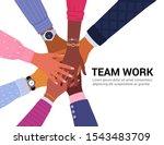 team work concept. vector... | Shutterstock .eps vector #1543483709