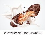 wafer chocolate with milk... | Shutterstock .eps vector #1543493030