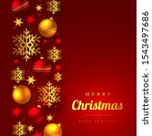 christmas greeting card with... | Shutterstock .eps vector #1543497686