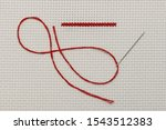the neat cross stitch and the... | Shutterstock . vector #1543512383